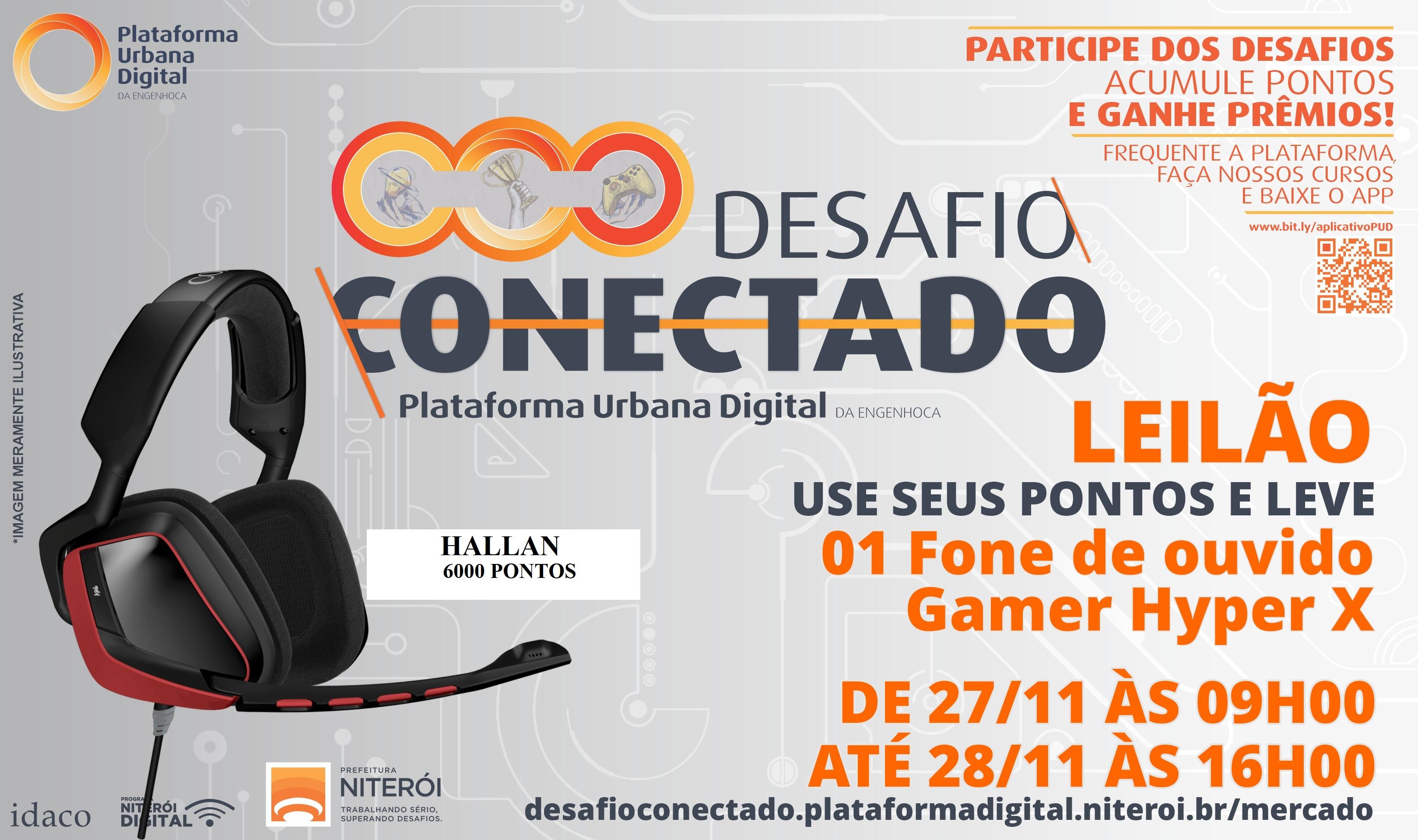 Leilão headset gamer